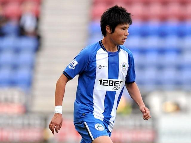 Wigan's Ryo Miyaichi in action against Fulham on September 22, 2012