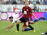 Frankfurt's Sebastian Rode in action against Hamburg on September 16, 2012