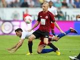 Frankfurt's Sebastian Rode in action against Hamburg on September 16, 2012
