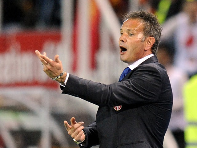 Serbia coach Sinisa Mihajlovic on the touchline on October 16, 2012