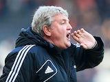 Hull City boss Steve Bruce during the match against Charlton on February 16, 2013