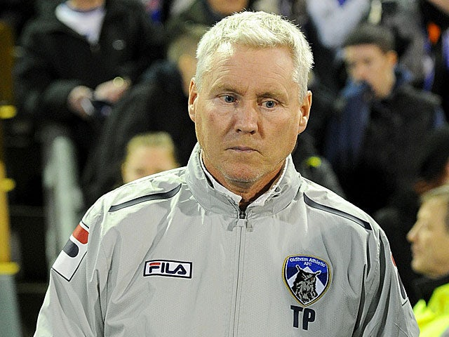 Oldham caretaker manager Tony Philliskirk prior to kick-off against Everton in the FA Cup 5th round on February 16, 2013