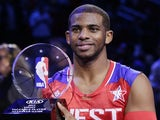The West's Chris Paul is named MVP of the All-Star game on February 17, 2013