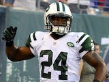 Jets' Darrelle Revis in action against the Giants on August 18, 2012