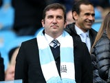 Manchester City's chief executive Ferran Soriano watches his side on November 17, 2012