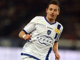 Bastia's Florian Thauvin in action against PSG on February 8, 2013