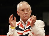 Promoter Frank Maloney, before his collapse at the Tony Thompson and David Price fight on February 23, 2013
