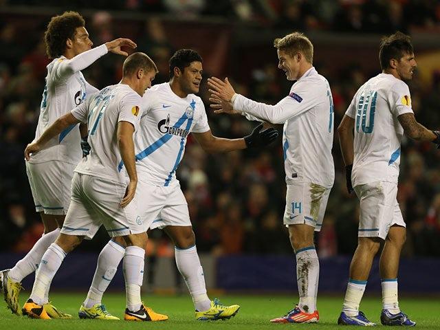 Result: Zenit overcome determined Liverpool