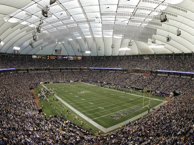 A picture of the Metrodome, home of the Vikings, taken on December 18, 2011
