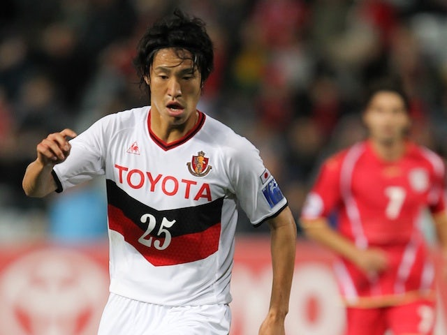 Mu Kanazaki in action for Grampus Eight on May 29, 2012