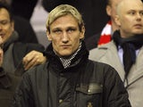 Sami Hyypia in the stands on February 6, 2012