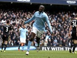 City's Yaya Toure celebrates after a goal against Chelsea on February 24, 2013