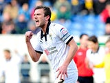 Port Vale's Doug Loft celebrates scoring the equaliser against Oxford on March 2, 2013