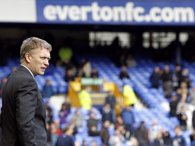 Everton manager David Moyes prior to his sides match against Bolton Wanderers on January 26, 2013