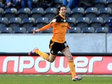 Hull City's George Boyd celebrates scoring in the first minute of his side's match with Birmingham on March 2, 2013