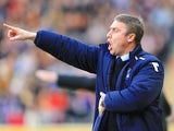 Birmingham City's manager Lee Clark on the touchline during his side's game against Hull on March 2, 2013