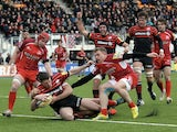 Saracens' Joel Tomkins scores a try against London Welsh on March 3, 2013