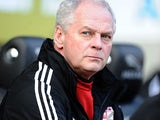 Swindon boss Kevin MacDonald prior to kick-off in the match against Coventry on March 2, 2013
