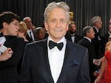 Actor Michael Douglas arriving at the 85th Academy Awards on February 24, 2013