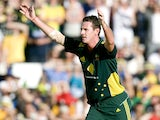Australia's Shaun Tait appeals for a wicket during his side's match against England on January 21, 2011