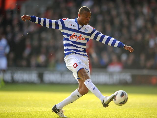 Queens Park Rangers's Loic Remy scores his side's first goal of the game against Southampton on March 2, 2013