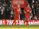 Southampton's Gaston Ramirez celebrates after scoring his side's first goal against QPR on March 2, 2013