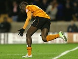 Wolverehampton Wanderers' Bakary Sako celebrates scoring against Watford on March 1, 2013