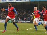 Gills forward Antonio German celebrates his goal against Plymouth on March 9, 2013