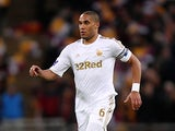 Swansea's Ashley Williams in action on February 24, 2013