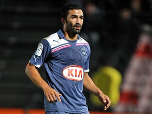 Bordeaux's Fahid Ben Khalfallah during his side's match against Nice on October 15, 2011