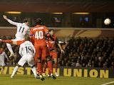 Spurs' Gareth Bale opens the scoring against Inter Milan on March 7, 2013