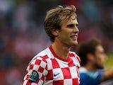 Croatia's Ivan Strinic in action on June 14, 2012