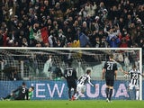 Alessandro Matri celebrates after scoring for Juventus in their Champions League match with Celtic on March 6, 2013