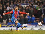 Crystal Palace's Kevin Phillips scored from the penalty spot against Hull on March 5, 2013