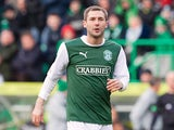 Kevin Thomson makes his return to Hibs as a substitute against Hearts on March 10, 2013