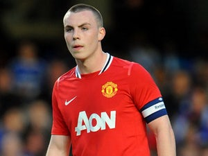Manchester United's Luke McCullough during his side's FA Youth Cup semi final against Chelsea on April 13, 2012