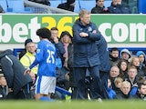 Everton's Marouane Fellaini is subbed during the game with Wigan on March 9, 2013