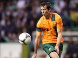 Australia's Robbie Kruse in action during his side's match against Scotland on August 15, 2012