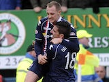 Ross County's Sam Morrow celebrates after scoring against Celtic on March 9, 2013