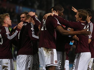 Hearts claim rare win