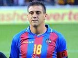 Levante's Sergio Ballesteros prior to kick off in his side's match against Motherwell on August 23, 2012