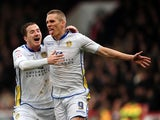 Leeds' Steve Morison celebrates his goal against Crystal Palace on March 9, 2013