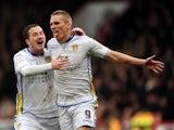 Leeds' Steve Morison celebrates his goal against Crystal Palace on March 9, 2013