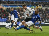 Birmingham's Wes Thomas scores against Derby County on March 9, 2013