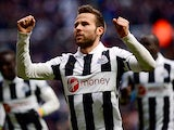 Yohan Cabaye celebrates moments after scoring the equaliser against Stoke on March 10, 2013