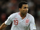 England winger Aaron Lennon in action against San Marino on February 10, 2013