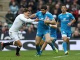 Italy's Andrea Masi in action during the Six Nations clash with England on March 10, 2013