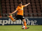 Wolves' Anthony Forde in action against Northampton on August 30, 2013