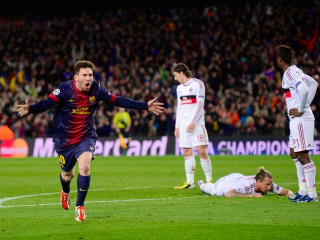 Result: Barca hit four to oust Milan