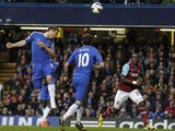 Chelsea's Frank Lampard scores with his head against West Ham in the Premier League match on March 17, 2013